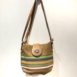 UNITED COLORS/ colourful straw purse